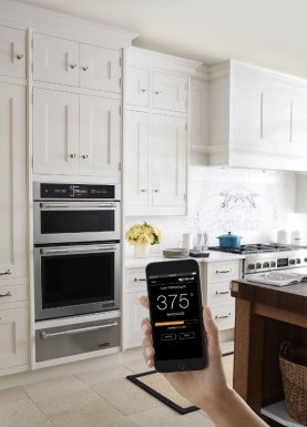 Attendees at the WestEdge Design Fair in Santa Monica will have the opportunity to experience the latest innovations from luxury appliance maker Jenn-Air, including their new connected wall oven. (PRNewsFoto/Jenn-Air)